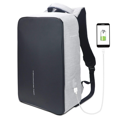 15.6 Inches Waterproof Travel Backpack USB Charging Port Business Laptop US SHIP