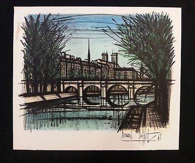 BERNARD BUFFET OFFSET Lithograph of the St. Martin Canal 1956 ...
