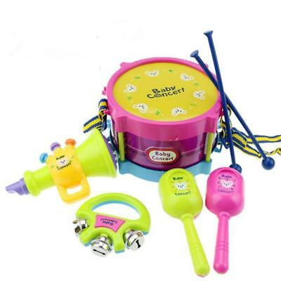 5Pcs/Set Baby Boy Girl Drum Musical Instruments indoor Children Toys Set UK