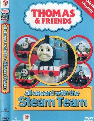 Arabic cartoon dvd for kids THOMAS AND FRIENDS ALL ABOARD WITH THE STEAM TEAM