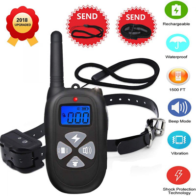 1450ft Remote Dog Training Collar Waterproof Rechargeable Electric Shock NEW US