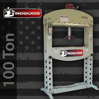 100 Ton Iroquois Ironworker 48 inch H-Frame Hydraulic Press Made in USA!