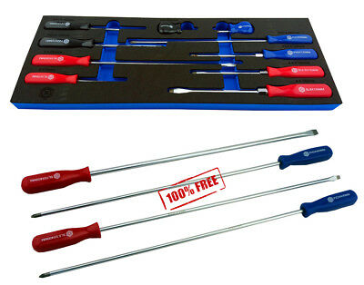Screwdriver Set From Britool Hallmark Pozi, Slotted, Phillips + Xl Screwdriver S