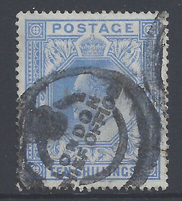 Great Britain GB 1912 10sh Blue King Edward VII (SG319) VF Used £600/$798