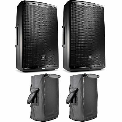 "JBL EON615 1000W 15"" 2-Way Powered Speaker Systems (Pair) W/ Convertible Covers"