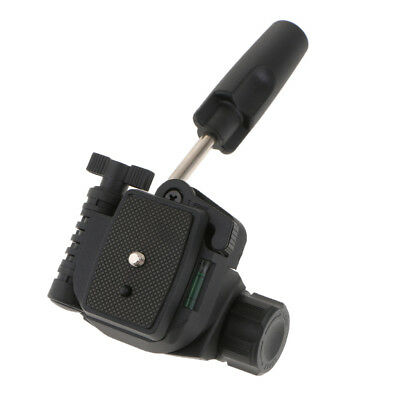 Video Tripod Ball Head 3-way Panhead QR Plate for DSLR Camera DV Cell Phones