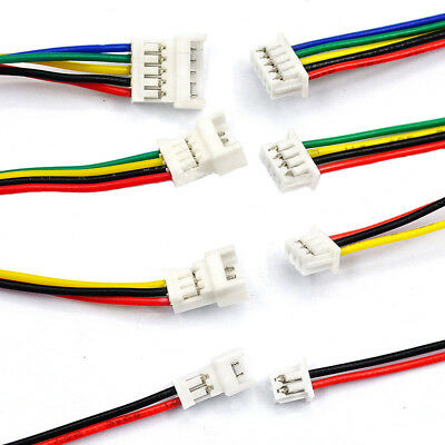 2/3/4 Pin Micro JST 1.25mm Female & Male Connector Plug With Wire Cables 200mm