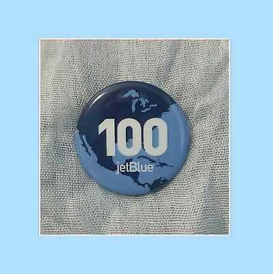 JetBlue 100 Destinations Brand New Winter Travel Collectable Pinback/Button