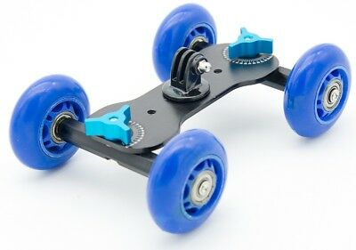 Metal Camera Dolly With Skateboard Wheels For GoPro, Action Cameras & Compact Ca