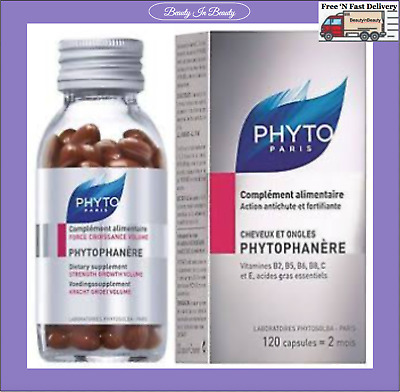 PHYTO Phytophanere Hair & Nails Dietary Supplement 120 Caps Exp 01/21 Pick