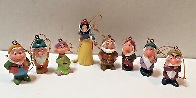 Disney Snow White and the Seven Dwarfs Christmas Ornament Set NEW in Package