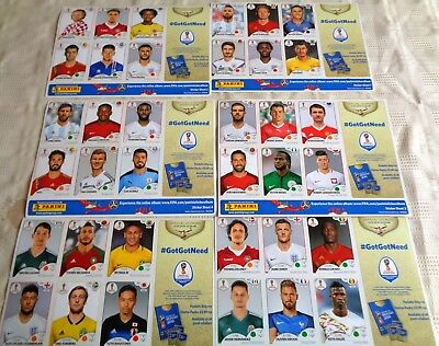 Panini Fifa World Cup Russia 2018 36 Loose Stickers  Rrp £4.80