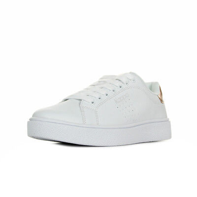 Chaussures Baskets Kappa femme Logo Sanremo taille Blanc Blanche Cuir Lacets
