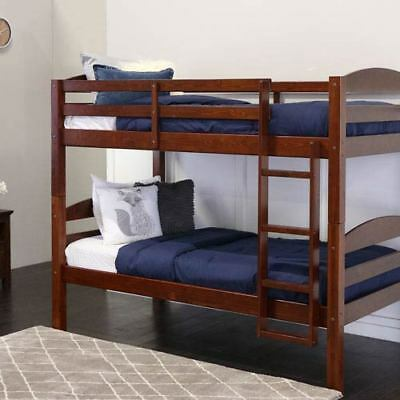 Walker Edison Furniture Co. Espresso Twin Solid Wood Double Bunk Bed - BWSTOTES