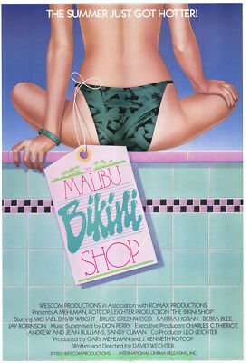 MALIBU BIKINI SHOP MOVIE POSTER Original 27x41 Rolled One Sheet 1985