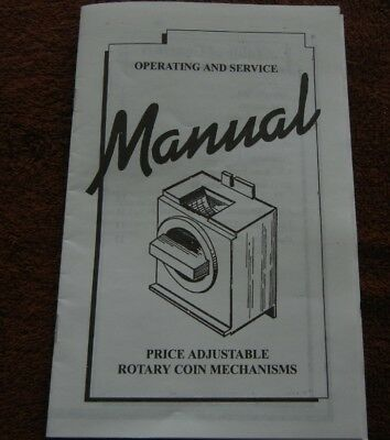 13 Page Operating & Service Manual for Edina vending machine Coin Mechanism