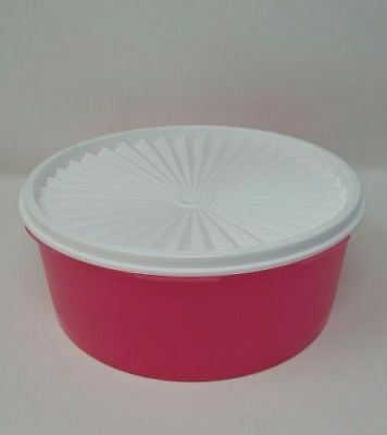 Tupperware New classic stacking canister set pink snow mix store bowl servalier
