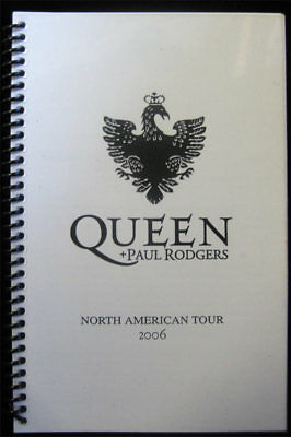 Queen + Paul Rodgers RARE 2006 North America Tour Book Band Crew Itinerary COOL!