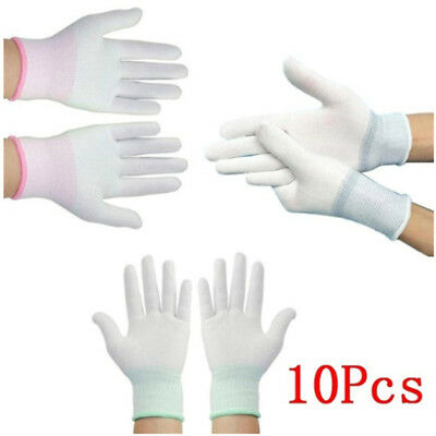 5pair Anti static ESD electronic working Gloves pu coated palm coated finger JX