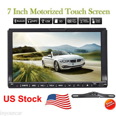 "Double 2Din 7"" Car DVD Player Stereo Radio GPS Map Mp3 Bluetooth Touch USB+CAM"