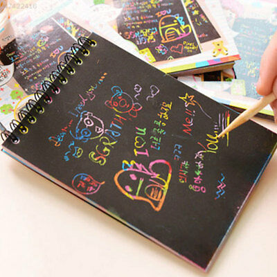 7655 Magic Scratch Art Painting Book Paper Colorful Educational Playing Toys