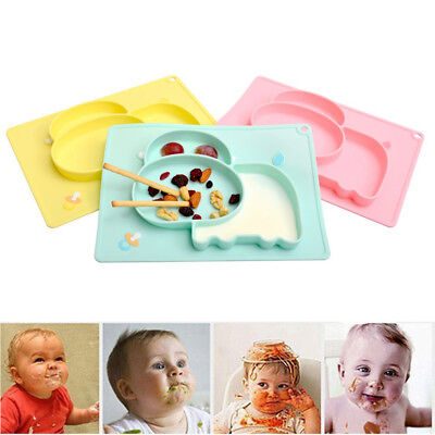 Bowl Silicone Mat Baby Kid Children Child Suction Table Food Tray Plate Cute
