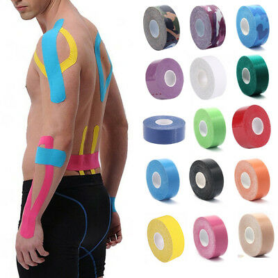 1 Roll Sport Kinesiology Tape Pain Relief Adhesive Muscle Bandage Cotton Elastic