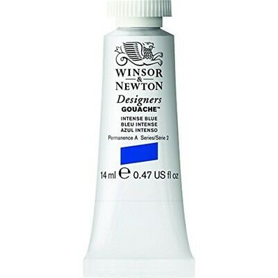 Winsor & Newton Designers Gouache Tube, 14ml, Intense Blue - 14ml Paint Tubes