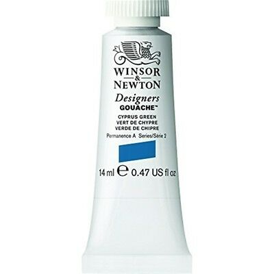 Winsor & Newton 14ml Designers Gouache Tube - Cyprus Green - Paint Tubes Colour