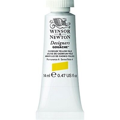 Winsor & Newton Designers Gouache Tube, 14ml, Cadmium Yellow Pale - 14ml Paint