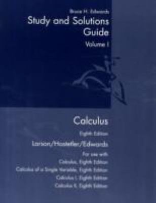 Student study and solutions guide calculus eighth edition volume i.