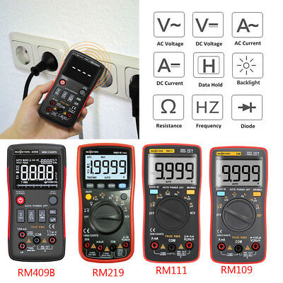 RICHMETERS True-RMS Digital Multimeter AC/DC Voltage Current Ohm Tester Ammeter