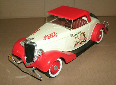 1/19 Scale 1934 Ford V8 Diecast Model Replica Pepsi Cola Collectible - Solido