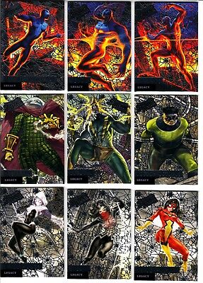 2017 UD Fleer Ultra Spider-Man Legacy Silver Web Foil 12-Card Set L1-L12