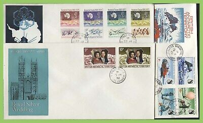 British Antarctic Territory 1969/72 collection of three First Day Covers