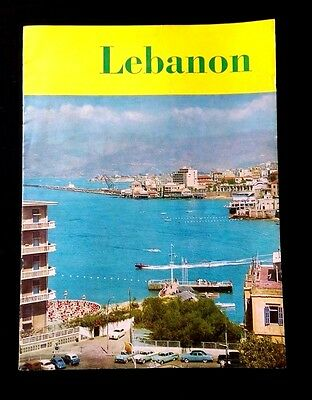 LEBANON Touristic magazine Published by Meddle East Airlines Company Liban 1960'