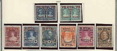 Spain Scott #b39/46   Incomplete Set Mint No Gum--Scott $328.00