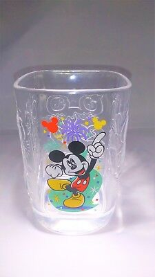 2000 McDonalds Walt Disney World Millennium Glass Mickey Mouse Magic Kingdom