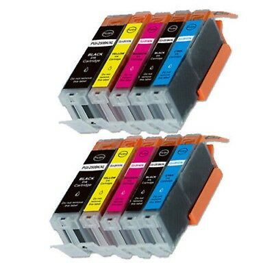 10-Pack/Pk Ink Combo for Canon PGI-250 CLI-251 Pixma iX6820 MX922 MG5620 MG6620