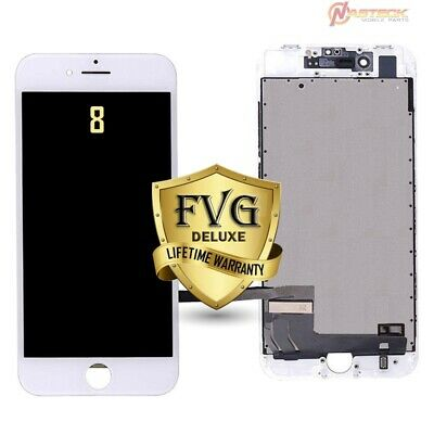 FVG iPhone 8 White LCD Display Digitizer OEM Quality Assembly Replacement w/ TG