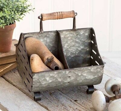 Farmhouse Olive Bucket Style Chicken Feeder Trough Caddy by CTW Home Collection