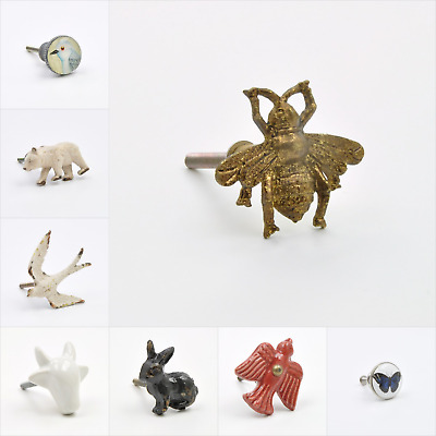 Animal Shaped Bees, Rabbits, Squirrels & More Knob, Pull, Handle, for Cupboards,