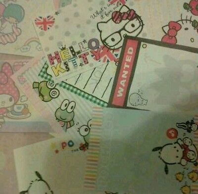 SANRIO  STATIONERY  MEMO lot large sheets only