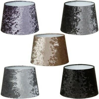 Luxe Velvet Look Table Lamp Light Shade Ceiling Pendent Plain Colour Lampshade 9