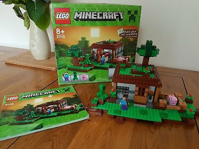 Lego Mine Craft 21115 The First Night Complete Boxed With