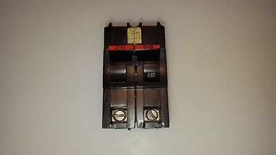 FPE Federal Pacific Stab-Lok NA220 20 Amp 2 Pole Circuit Breaker THICK TYPE NA