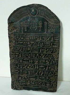 ANCIENT EGYPTIAN ANTIQUE FRAGMENT Wall Stela Relief 1500-700 BC