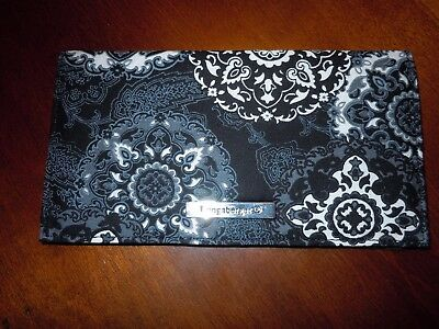 ~ Longaberger Checkbook Cover ~ Sisters Secret  ~ Medallion Print