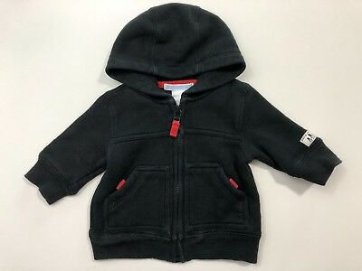 JANIE AND JACK Winter Cheer Black Hoodie Sweater Size 0-3 Months