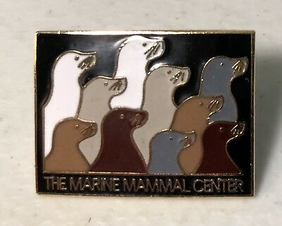 Marine Mammal Center Lapel Hat Pin Pinback ~ Whales~Dolphins~Fur Seals~Sea Lions